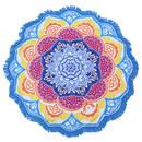Mandala Näckrosen Chakra Matta / Duk - Sky Blue