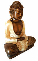 Mediterande Vit Buddha - 25cm