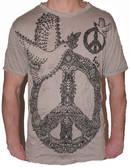SURE T-shirt - Peace Dove - Brun