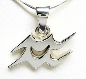 Stjärntecken Hänge i Silver - Vattumannen