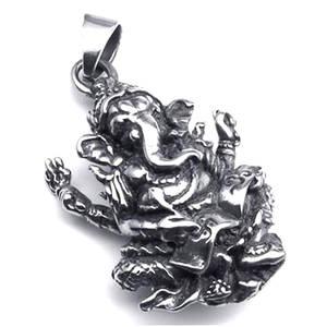 Ganesha Hänge i Rostfritt Stål