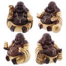 Guld & Brun Fet Kinesisk Buddha