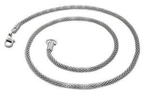 Stål Halskedjor i Rostfritt stål - Ormskinnväv
