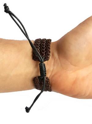 Handgjord Vävd Armband - Brun