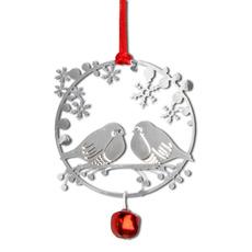 Julhänge Domhere silver med pingla