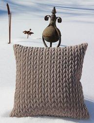 Kuddfodral Struktur linne beige sammet shabby chic lantlig stil
