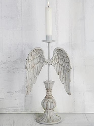 Ljusstake änglavingar vingar shabby chic lantlig stil