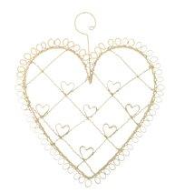 Hjärthängare vit smide hjärta memo korthållare shabby chic lantlig stil