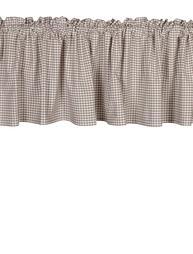 Gardinkappa kappa rutig linnefärg vitt shabby chic, lantlig stil