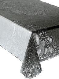 Ljuvlig grå spetsduk i vinyl shabby chic lantlig stil fransk lantstil