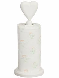 Hushållsrullehållare vit trä hjärta habby chic lantlig stil