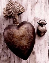 Franskt guldhjärta graverat fransk lantstil shabby chic lantlig stil