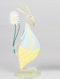 Kanin påskhare kaninpojke stående shabby chic lantlig stil