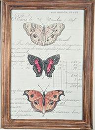 Tavla trä fjärilar 1 shabby chic lantlig stil