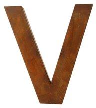 V - rostig i plåt 30 / 50cm