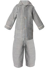 Maxi kanin pyjamas blå randig