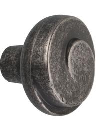 Rund knopp antik svart shabby chic lantlig stil