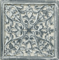 Trädekoration tempeltavla utskuren antik-grå shabby chic lantlig stil