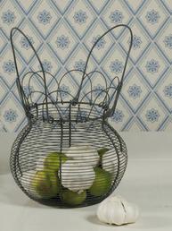 Stor äggkorg luffarslöjd shabby chic lantlig stil fransk lantstil