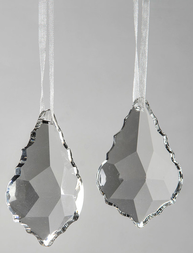 Lövformat hänge glas prisma shabby chic lantlig stil