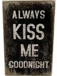 Canvastavla tavla Always kiss me goodnight industristil