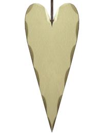 Hjärta i trä trähjärta champagne olika storlekar shabby chic lantlig stil