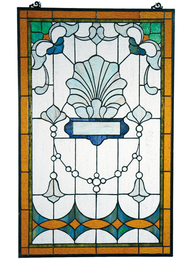 Fönsterdekoration insynsskydd  tiffanyglas jugendstil
