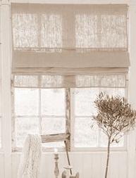 Fransk rullgardin hissgardin Lin Jeanne d´Arc Living shabby chic lantlig stil