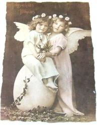 Änglar på handgjort papper 2