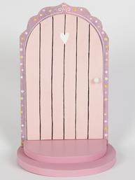 Dörr liten rosa dekoration trä shabby chic lantlig stil