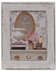 Tavla vintage stilleben urna blommor shabby chic lantlig stil