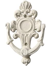 Dörrkläpp dörrknack vit gjutjärn gammeldags shabby chic lantlig stil