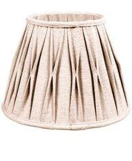 Lampskärm stor linnebeige plisserad fransk lantstil