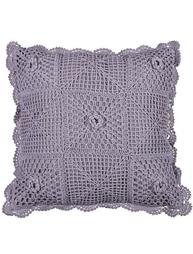 Virkat lavendel kuddfodral shabby chic lantlig stil