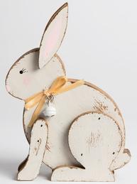 Kanin påskhare kaninpojke trä shabby chic lantlig stil