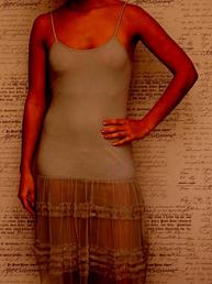 Louise underklänning Miel chocolate shabby chic lantlig stil