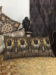 Kuddfodral Buddha  shabby chic lantlig stil