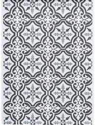 Löpare Mosaik svart shabby chic lantlig stil