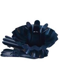 Ljushållare svart plåt för julgransljus shabby chiclantlig stil