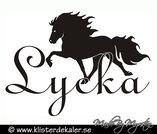 Väggdekor Islandshäst Lycka