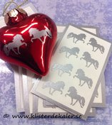 Söta 8-pack miniatyrdekorationer Islandshäst