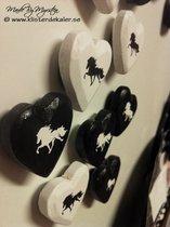 Kylskåpsmagnet 9 handmålad