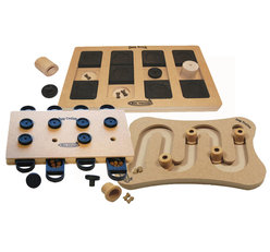 3 IQ Games, wood, level 2-3, advanced.  Eco-Friendly material