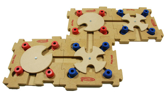 MixMax Puzzle B, blue, holz. Schwierigkeitsgrad 2. Natural, Eco-Friendly material