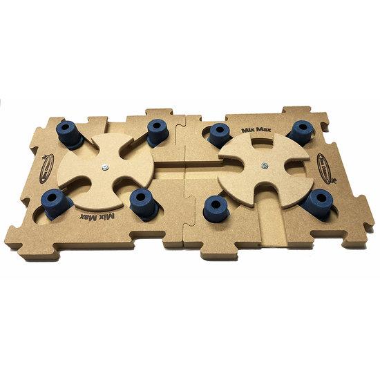 2 MixMax Puzzle B blue, madera. Grado de dificultad 2 - 3.  Natural, Eco-Friendly material.