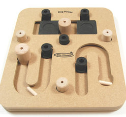 DogPower Multigame in wood, level 2 & 3.  3 solutions in 1 game. Natural, Eco-Friendly material
