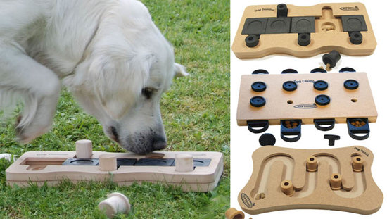 3 Activation Hundespielzeug, holz. Schwierigkeitsgrade 2-3, advanced. Natural, Eco-Friendly material