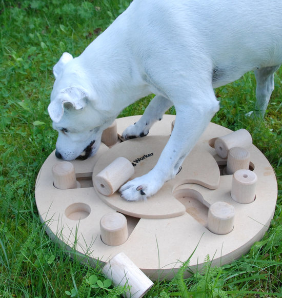DogWorker, hout. Moeilijkheidsgraad 3. Advanced multi game. Natural, Eco-Friendly material
