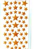 Stickers Puffy Glitter Stjärnor  Guld