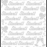 Peel off stickers Student/Guld
